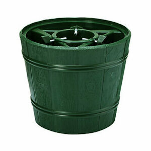 Barrel Style 6ft (1.8m) Christmas Tree Stand Tub Holder Base Water Holding Green