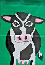 New listing Cow Standard Applique House Flag by Nce #20363