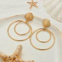 Fashion Women Round earring Dangle Drop Stud Earrings wedding Party Jewelry
