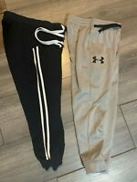 Lot of 2 Under Armour Cold Gear & Coco Limon Boys Size small Joggers Track Pants