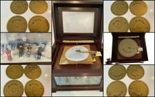 Mr Christmas Harmonique Animated Music Player & 16 Discs, Ice Skaters, SEE VIDEO