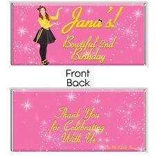Emma Yellow Wiggle Theme Chocolate Wrappers Printable Digital - Print At Home