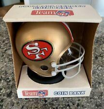 San Francisco 49ers Mini Helmet Coin Bank Vintage 1980s NFL