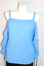 18/20 Lane Bryant Women Plus Size Blue Cold Shoulder Long Sleeve Top NWT