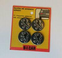 NOS Peugeot Logo Wheel Hub Center Caps Emblem Badge Self Adhesive Sticker 4 Set