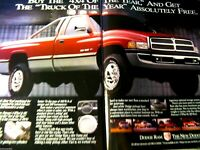 "1984 Dodge Ram TRUCK OF YEAR Original Print Ad 8.5 x 11"""