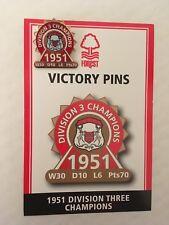DANBURY Nottingham Forest FC victoire pin badge 1951 Division trois 3 champions