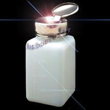 200ML Clear Liquid Push Down Alcohol Dispenser Solder Flux Bottle Anti-Reflux