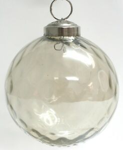 VINTAGE: 5pc Small Thick Mercury Glass Pinecone Ornaments Kugel Style Christmas Ornaments Heavy Glass SKU os-177-00031428