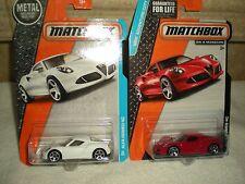 Classic Matchbox Alfa Romeo 4C Lot (2) Diecast 1:64