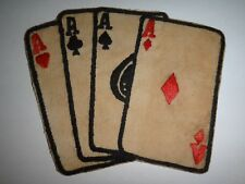 Four Poker Aces Stacked Deck NCO Club Vietnam War Hand Sewn Patch