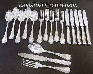 CHRISTOFLE Malmaison Besteck Silberbesteck, 120er Silber 18 tlg. für 6 Personen