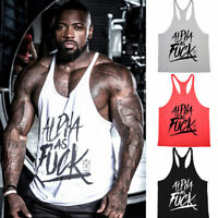 NEW GYM MENS MUSCLE SLEEVELESS SHIRT TANK top BODYBUILDING SPORT FITNESS VEST