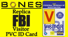Bones Replica Jeffersonian Cosplay PVC ID Card FBI Visitor comic con cospaly