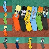 Unisex Mens Womens Socks Mural Art Casual Socks Graffiti Fashion Socks Paintings