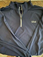 Polo Sport Navy Quarterzip Pullover.  Big And Tall 4XL 4XB