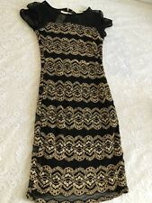 Diamond by Julien Macdonald Black  lace  bodycon dress Size UK10. NEW with tags.