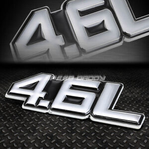 METAL BUMPER TRUNK GRILL EMBLEM DECAL STICKER LOGO BADGE CHROME BLACK 4.6 4.6L