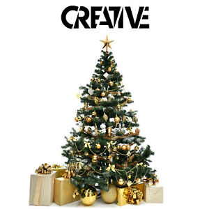 Christmas Trees With Stand - Xmas Green Artificial Trees 4ft 5ft 6ft Home Tree