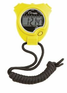 New Champion All Sports Walking Running Stopwatch Timer Daily Alarm, Yellow