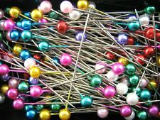 144 Pearl Head Pins Assorted Colours for Dressmaking Crafts Sewing & Florists UK