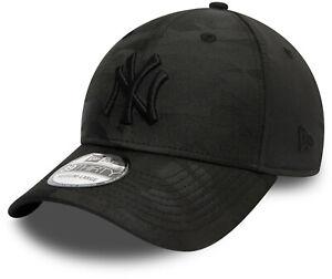 New York Yankees New Era 3930 Black Camo Stretch Fit Baseball Cap