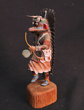"""Hopi Master Carver Keith Torres Detailed Blue Ahote Kachina 10"""" ht,  Mint cond."""