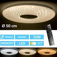 72W LED Deckenleuchte Dimmbar Deckenlampe Wohn Schlafzimmer mit Fernbedienung
