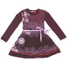 DESIGUAL Cute Girls Purple Floral Skater Dress size 5/6 - 438