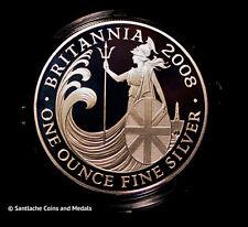 2008 ROYAL MINT SILVER PROOF £2 BRITANNIA IN CAPSULE - 1oz of Fine Silver