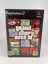 Grand Theft Auto Iii-Gta 3-Playstation 2-Ps2-Cib w/Map & Manual-Tested-Free Ship