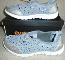 CUSHION WALK LADIES SPARKLE SLIP ON TRAINERS IN GREY/WHITE UK 6 BRAND NEW