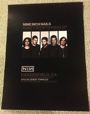 Nine Inch Nails Nin Bakersfield Poster 7/19/17 I Can'T Seem To Wake Up Rare Mint