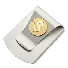Storus Smart Money Clip with $ SIgn Medallion-Titanium Finish