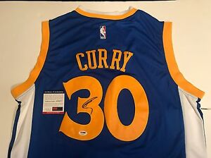 STEPHEN CURRY HAND SIGNED GOLDEN STATE WARRIORS JERSEY PSA DNA CERT