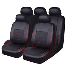 Luxurious new arrival breathable pu leather red color car seat cover fit car suv