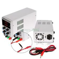 30V 5A DC Regulated Power Supply Digital Adjustable Variable Grade w/ Cable Clip