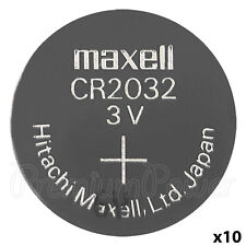10 x Maxell Lithium CR2032 batteries Coin Cell 3V BR2032 DL2032 ERC2032
