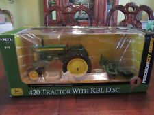 ERTL PRECISION KEY #4 J.D. 420 TRACTOR WITH KBL DISC - NIB - NEVER DISPLAYED