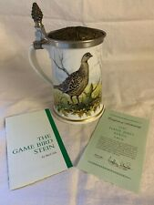More details for franklin porcelain the game bird stein by basil ede limited edition 1981 + cert