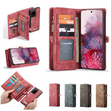 Genuine Leather Wallet Case Detachable Phone Protective Cover for Samsung iPhone