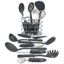 NEW Maxam 17pc Kitchen Tool Set - spoon, spatula, grater, slicer, whisk, cutter