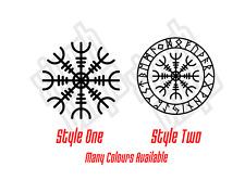 Helm of awe runique Boussole Vinyle Sticker Autocollant Voiture Fenêtre Tatouage Viking Norse