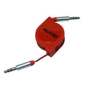 "Auvio Retractable 1/8"" (3.5mm) Audio Cable - Red"