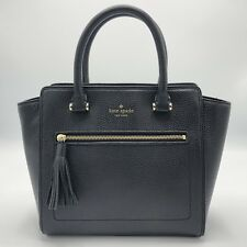 NWT Kate Spade Small Allyn Chester Street Leather Satchel Handbag Black