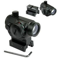 Outdoor QD Reflex Red Green Dot Sight Scope Quick Release Rail High Low Mount