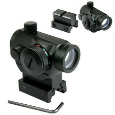 Outdoor QD Reflex Red Green Dot Sight Scope Quick Release Rail High Low Mount