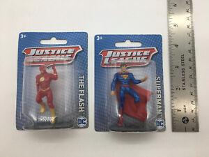 New Justice League DC Comics Mini Figures Mattel Superman & The Flash NIP