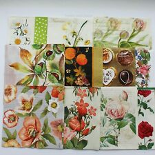 "Lot of 12 Paper Napkin For Decoupage set 33x33sm 13""x 13"" flower Paper Crafts"