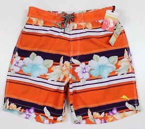 NWT Tommy Bahama Relax Baja Boulevard Boardshorts MENS SMALL Orange Floral